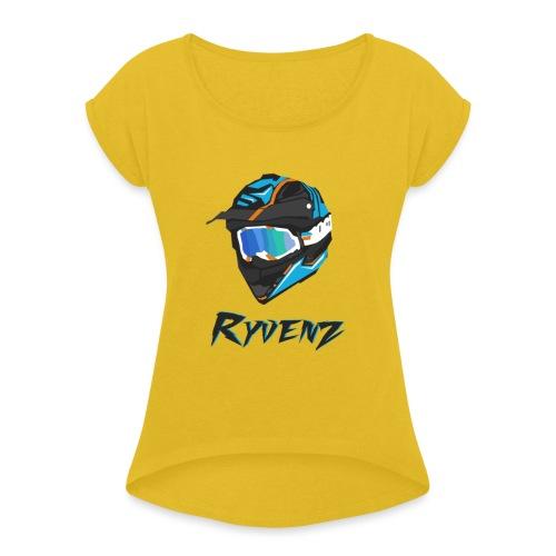 T SHIRT RYVENZ N2 - T-shirt à manches retroussées Femme