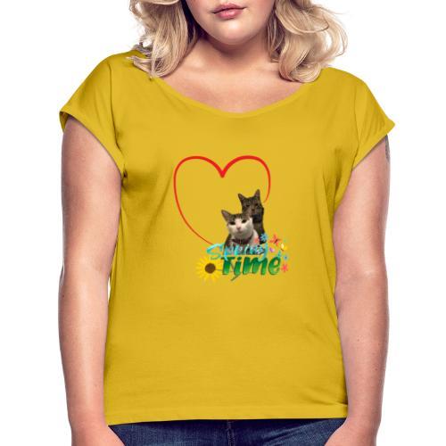 Spring Time - Maglietta da donna con risvolti