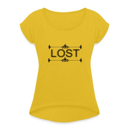 lost stree6 - Women's T-Shirt with rolled up sleeves