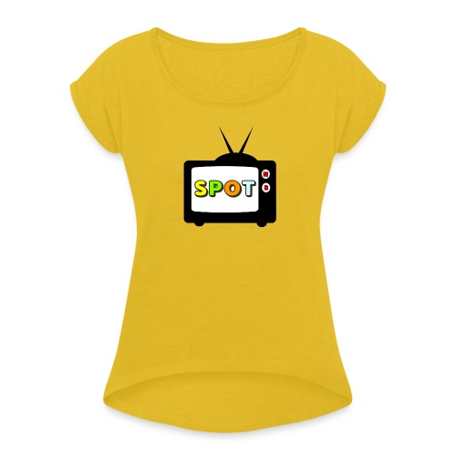 Spot Tv - Maglietta da donna con risvolti