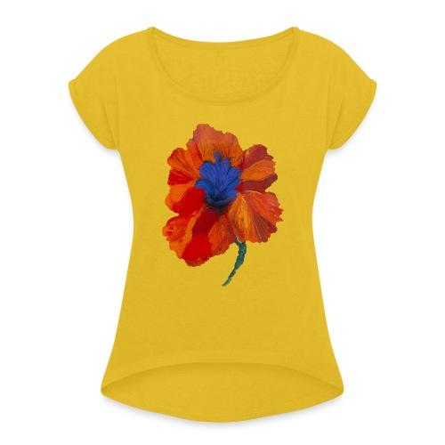 by Thierry Feuz - Dame T-shirt med rulleærmer