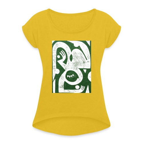by Krista Rosenkilde - Dame T-shirt med rulleærmer
