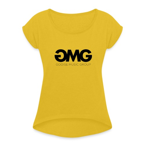 GMG - Vrouwen T-shirt met opgerolde mouwen