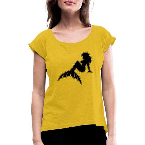 Classic Mermaid NoCircle - Women's T-Shirt with rolled up sleeves