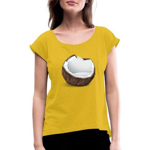 coconut - Frauen T-Shirt mit gerollten Ärmeln
