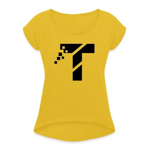 1D0E2530 0EE7 452A AC41 53F18A44DEAD - Frauen T-Shirt mit gerollten Ärmeln