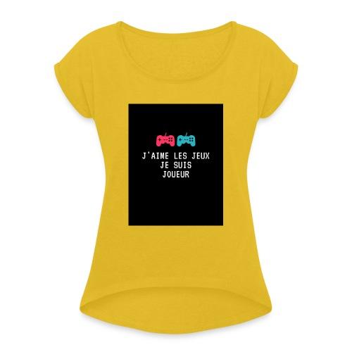 JEU - T-shirt à manches retroussées Femme