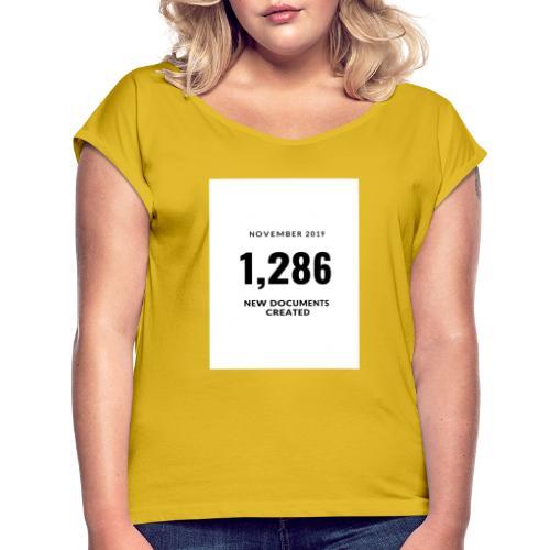 Blue Production Studio Logo - T-shirt à manches retroussées Femme