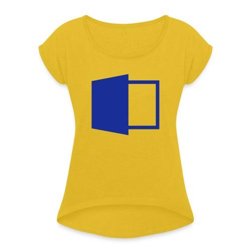 MS Office Clean - Frauen T-Shirt mit gerollten Ärmeln