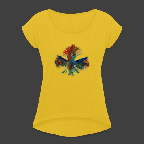 Mayas bird - Women's T-Shirt with rolled up sleeves