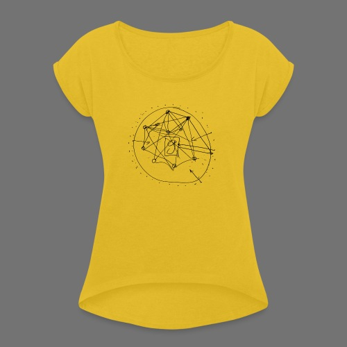 SEO Strategy No.1 (black) - Frauen T-Shirt mit gerollten Ärmeln
