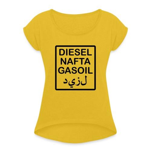 scritta serbatoio diesel PRONTO - Maglietta da donna con risvolti