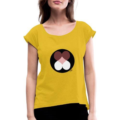 love expo black sans - T-shirt à manches retroussées Femme