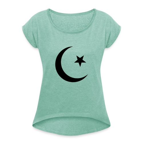 islam-logo - Women's T-Shirt with rolled up sleeves