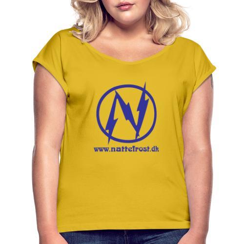 Nattefrost Logo. - Dame T-shirt med rulleærmer