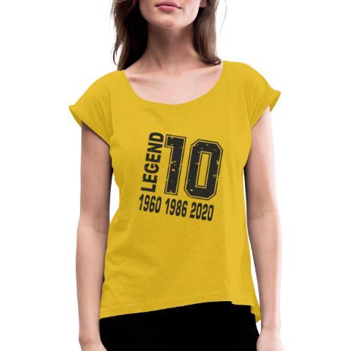 Legend 10 - Camiseta con manga enrollada mujer