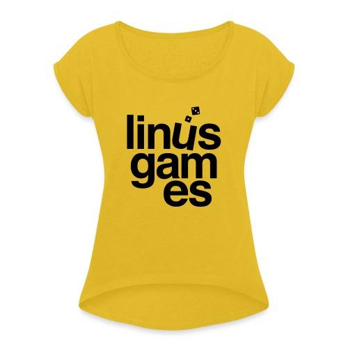 T-shirt donna Linus Games - Maglietta da donna con risvolti