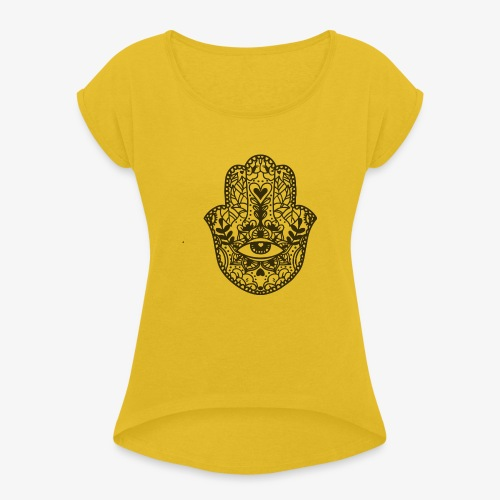 mandala4 - Women's T-Shirt with rolled up sleeves