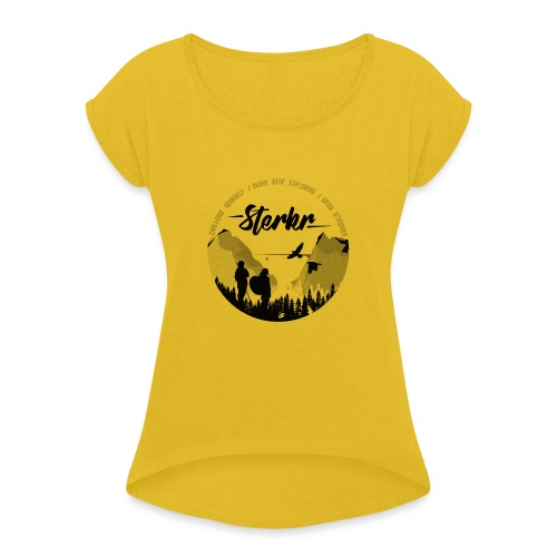 STERKR - Fjordview - Women's T-Shirt with rolled up sleeves