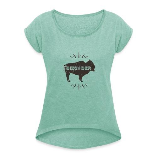 Bizonder - Vrouwen T-shirt met opgerolde mouwen