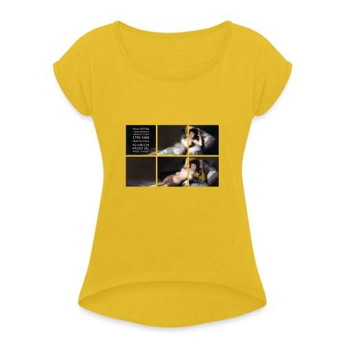 Maja vestida e maja desnuda - Maglietta da donna con risvolti