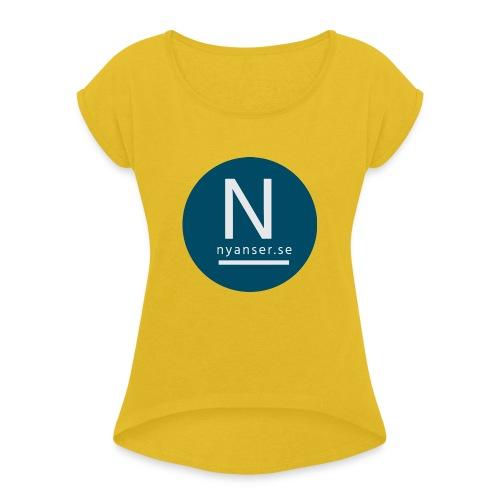 Nyanser.se mugg - T-shirt med upprullade ärmar dam