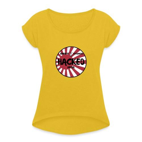 Hacked Media support Hoodie - T-shirt med upprullade ärmar dam