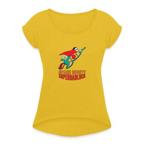 superbadluck- SPACEODDITY - Maglietta da donna con risvolti