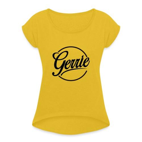 Shirt met lange mouwen Vrouw - Vrouwen T-shirt met opgerolde mouwen