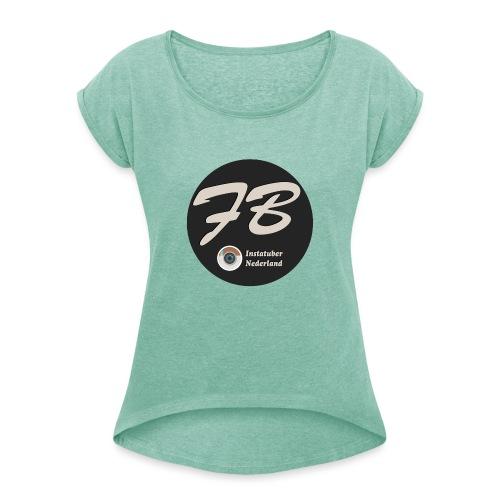 TSHIRT-INSTATUBER-NEDERLAND - Vrouwen T-shirt met opgerolde mouwen