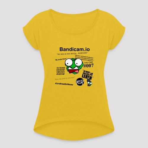 Meme Trui - Vrouwen T-shirt met opgerolde mouwen