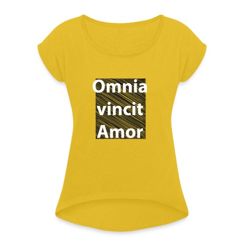 omnia vincit amor - Maglietta da donna con risvolti