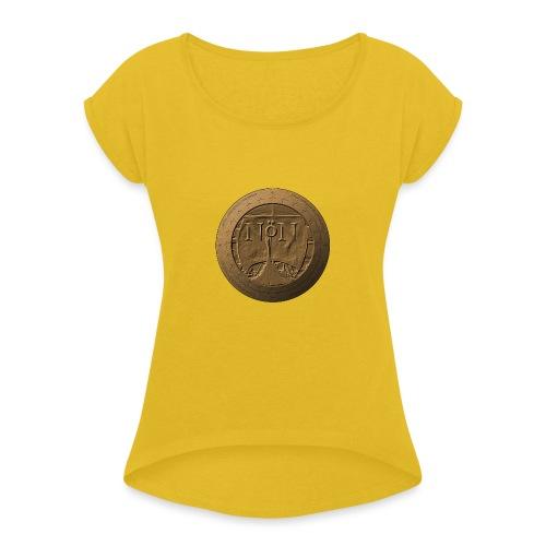 Norröner Coin - T-shirt med upprullade ärmar dam