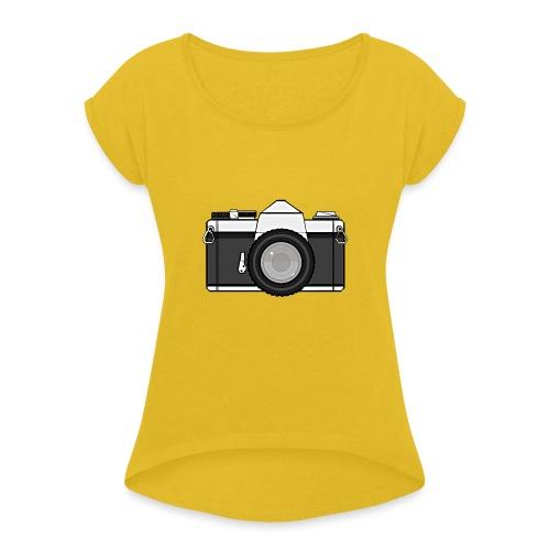 Shot Your Photo - Maglietta da donna con risvolti