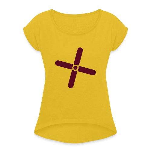 Break Even Plus - Dame T-shirt med rulleærmer