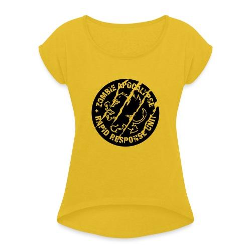 Zombie Apocalypse - T-shirt med upprullade ärmar dam