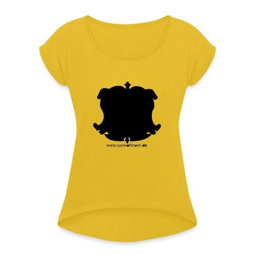 reitschule - Maglietta da donna con risvolti