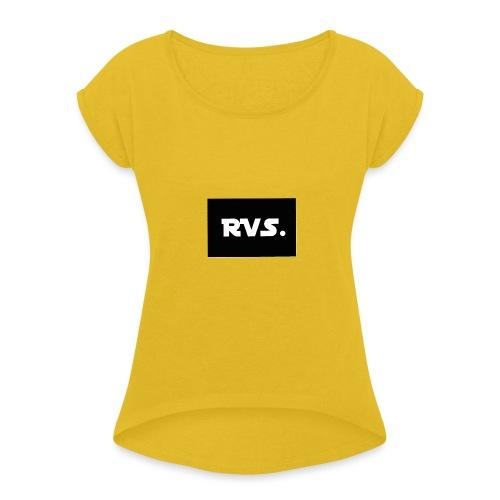 RVS - Vrouwen T-shirt met opgerolde mouwen