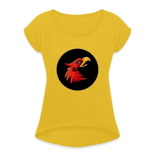 Maka Eagle - Women's T-Shirt with rolled up sleeves