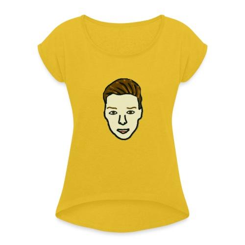 Luukjeh - Vrouwen T-shirt met opgerolde mouwen