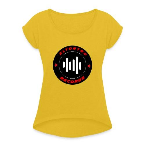 Logo Elyontro records - T-shirt à manches retroussées Femme