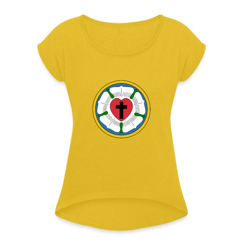 Luther Rose - Women's T-Shirt with rolled up sleeves