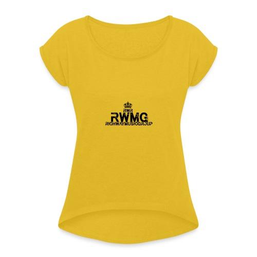 RWMG_Black 2 - Vrouwen T-shirt met opgerolde mouwen