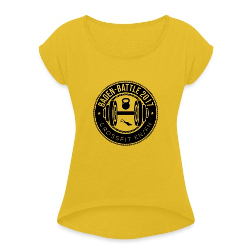 Crossfit Friedrichshafen / Konstanz Baden-Battle - Frauen T-Shirt mit gerollten Ärmeln