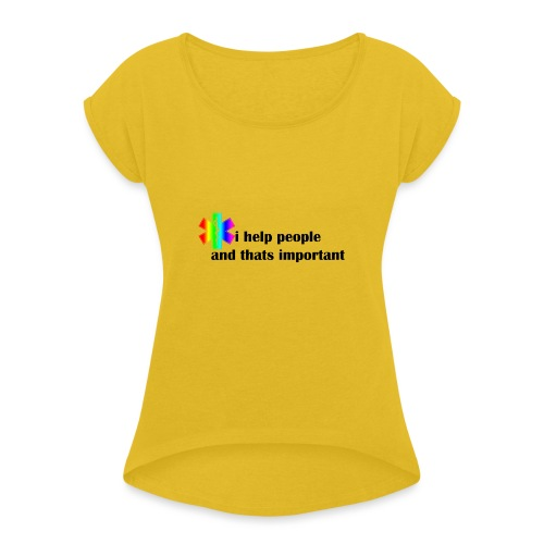 Emergency Gay Services - Vrouwen T-shirt met opgerolde mouwen