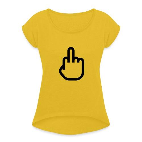 F - OFF - Vrouwen T-shirt met opgerolde mouwen