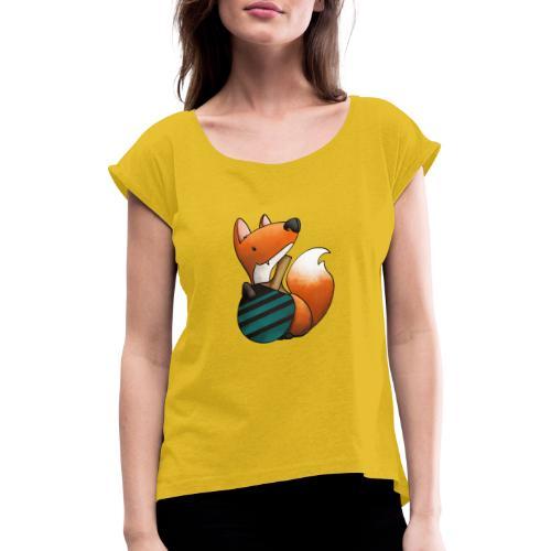 Finn Fuchs - Frauen T-Shirt mit gerollten Ärmeln