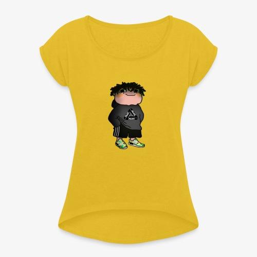Alfons Pogberg - T-shirt med upprullade ärmar dam