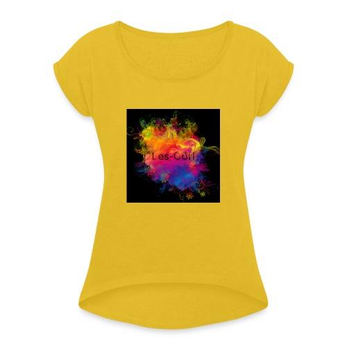 Les-Görl - Frauen T-Shirt mit gerollten Ärmeln