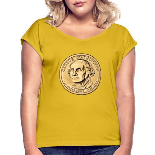 President Like - Frauen T-Shirt mit gerollten Ärmeln